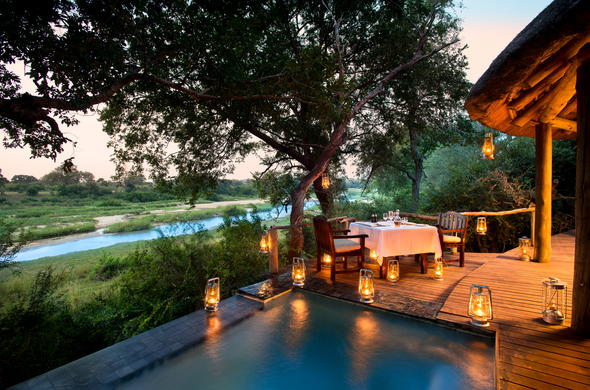 Private dinners can be arranged at Dulini River Lodge.
