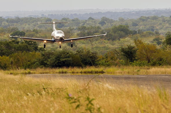 Fly directly into the Sabi Sand Game Reserve.