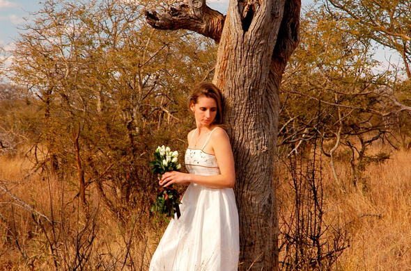 Bride at Leopard Hills Safari Lodge.