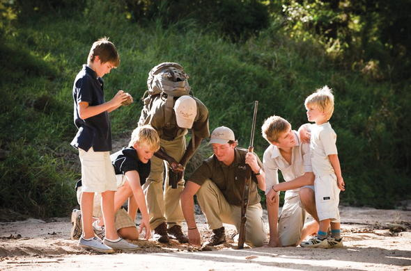 Lion Sands River lodge offers child safaris in Sabi Sand Reserve.