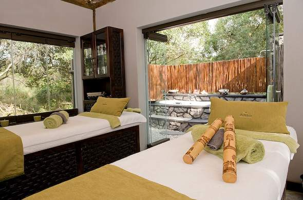 Sabi Sabi Bush Lodge spa in Sabi Sands Game Reserve.