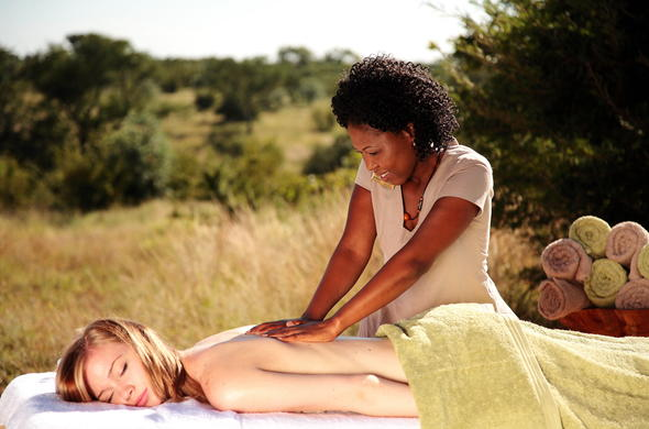 Earth Lodge spa treatment.