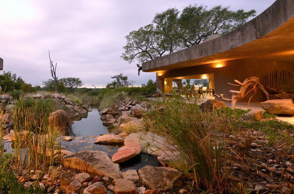 Sabi Sabi Earth Lodge in Sabi Sand Game Reserve.