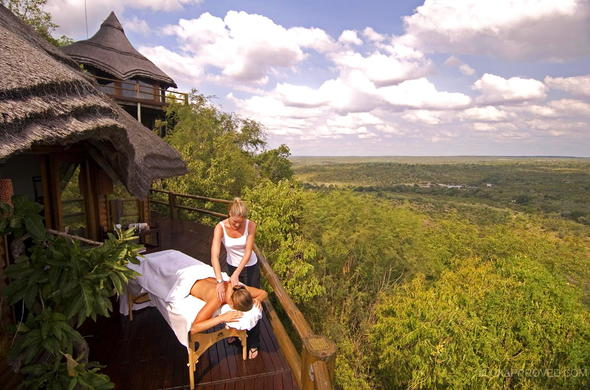 Sabi Sands spa treatment with a view.