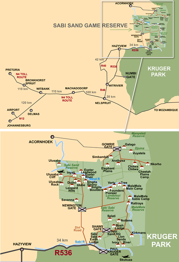 sabi sands map
