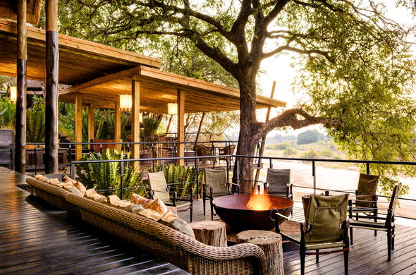 Quiet afternoons deckside at Sabi Sand Private Game Reserve.